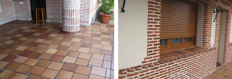 Baldosas ceramicas para exterior great baldosa para terraza terracota barro with baldosas - Baldosas de ceramica para exterior ...